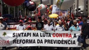20/02/2019 - SINTAPI-CUT participa de atos contra reforma da Previdência