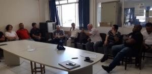 19/03/2019 - Reunião no Conselho Sindical debate reforma da Previdência em Santos