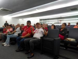 10/04/2019 -  SINTAPI-CUT participa de homenagem aos 39 anos do PT na Câmara de Santos