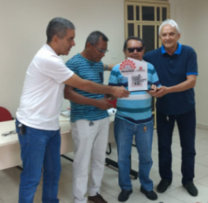 28/11/2018 - Secretário Nacional de Formação do Sintapi-CUT, Carlos Repolho, é homenageado, no Sindicato Urbanitários do Pará, pela luta em favor dos trabalhadores da CELPA, COSANPA e ELETRONORTE