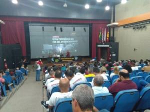 11/04/2019 - SINTAPI-CUT participa de Fórum em Defesa das Aposentadoria em Santos
