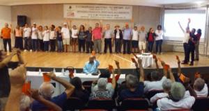 13/02/2019 - Nova diretoria é eleita no V Congresso Nacional do SINTAPI-CUT. Atual presidente, Luizão, é reeleito
