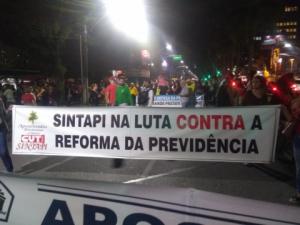 30/05/2019 - SINTAPI-CUT participa de protestos contra corte na Educação